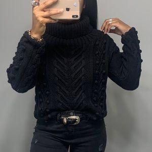 Vintage 90's Popcorn Knit Turtle Neck Sweater